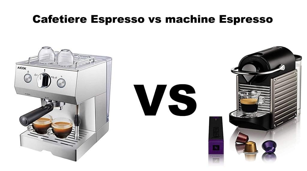 Cafetiere Expresso contre machine Nespresso la différence